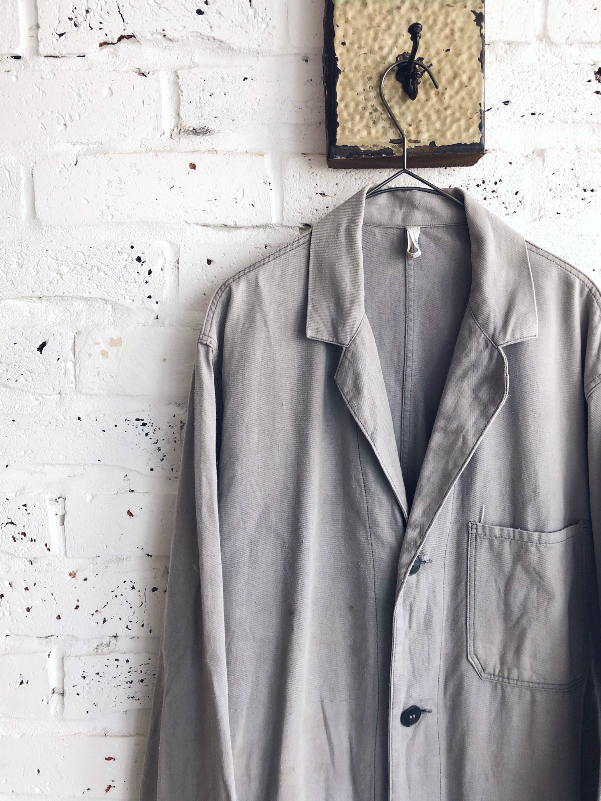 Vintage 60's〜 Unknown/Euro Work Coat/Light gray