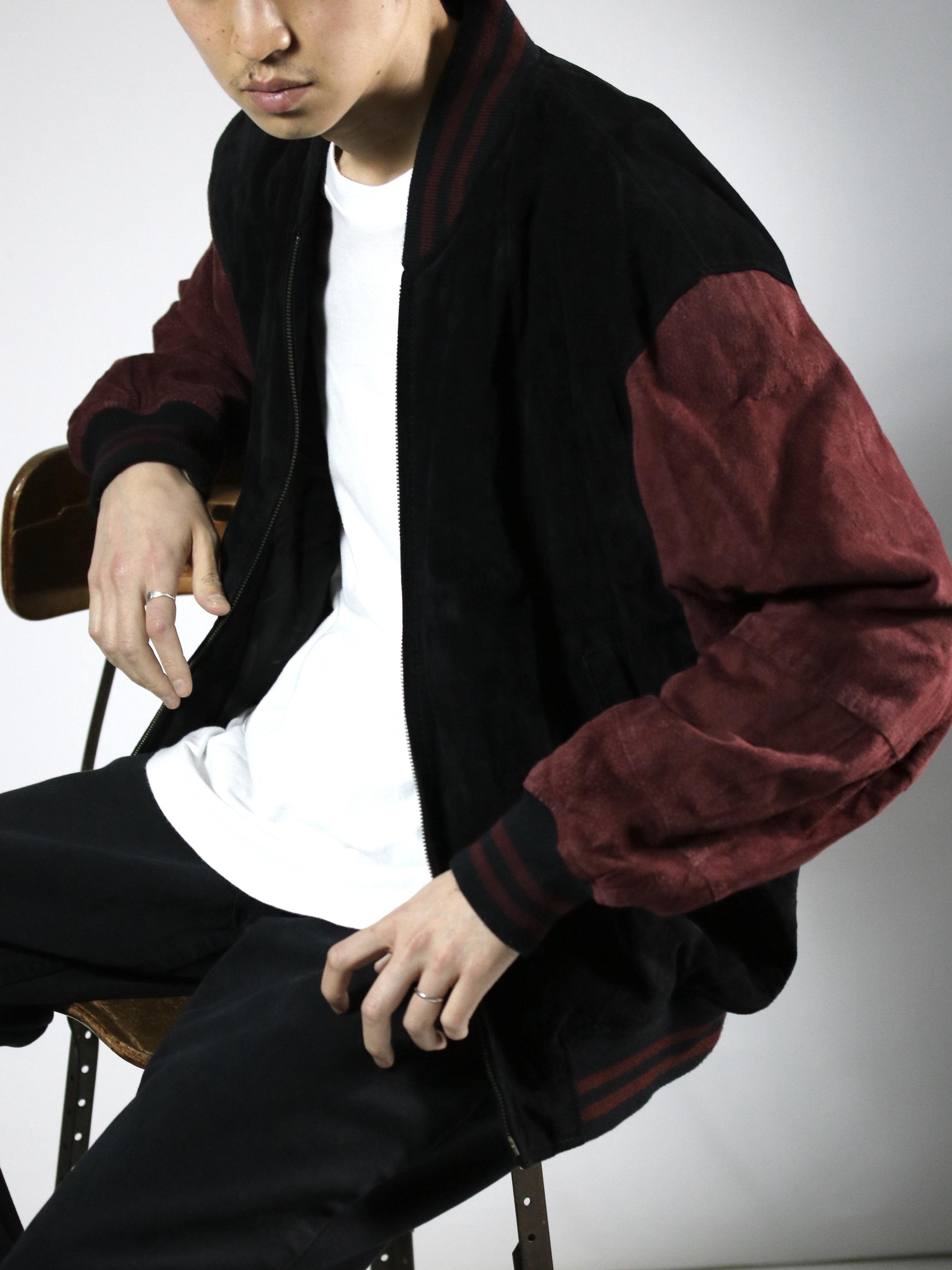 1990's ~ William Barry Pig Suede Jacket