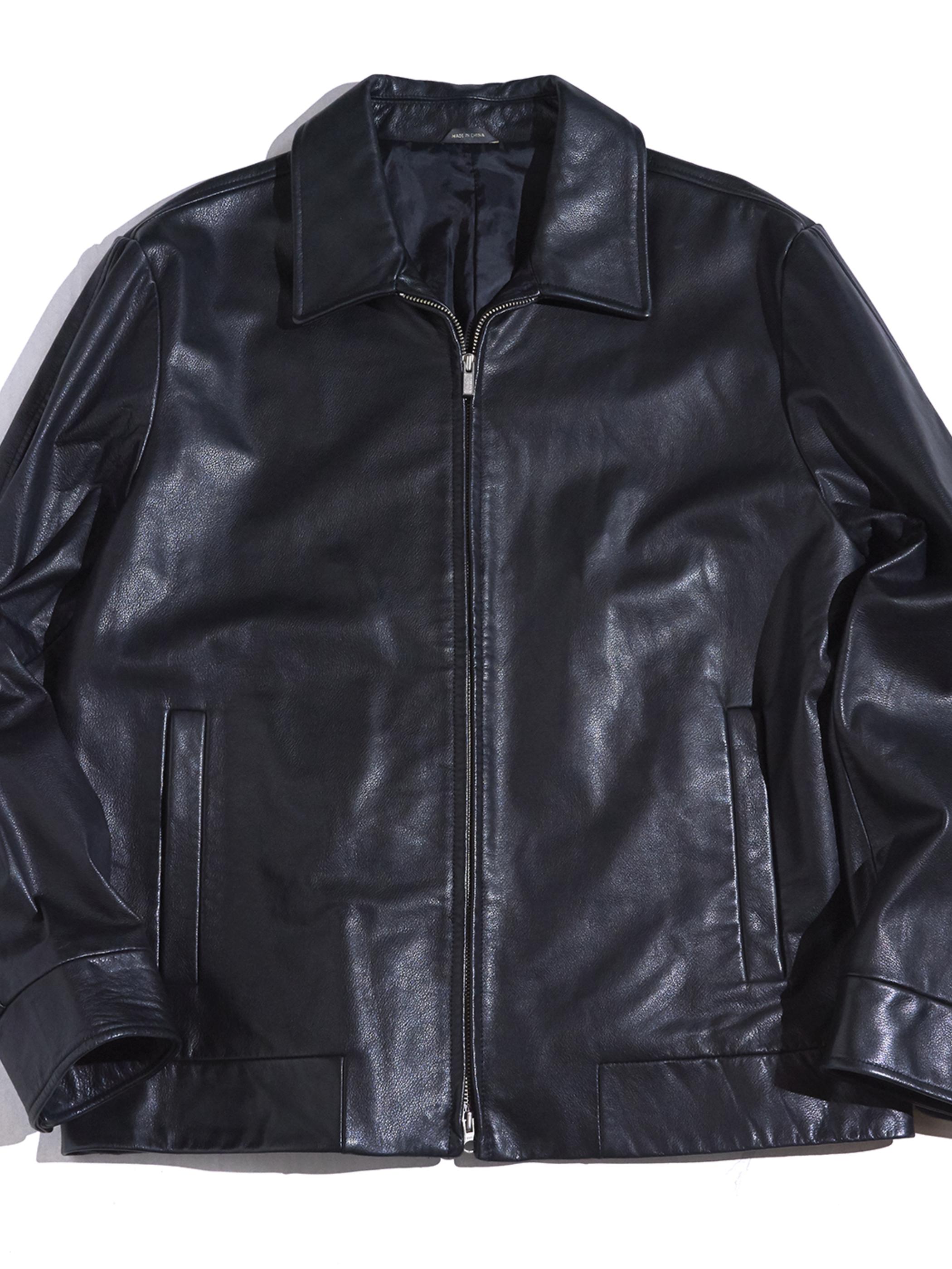 """2000s """"BANANA REPUBLIC"""" leather jacket -BLACK-"""