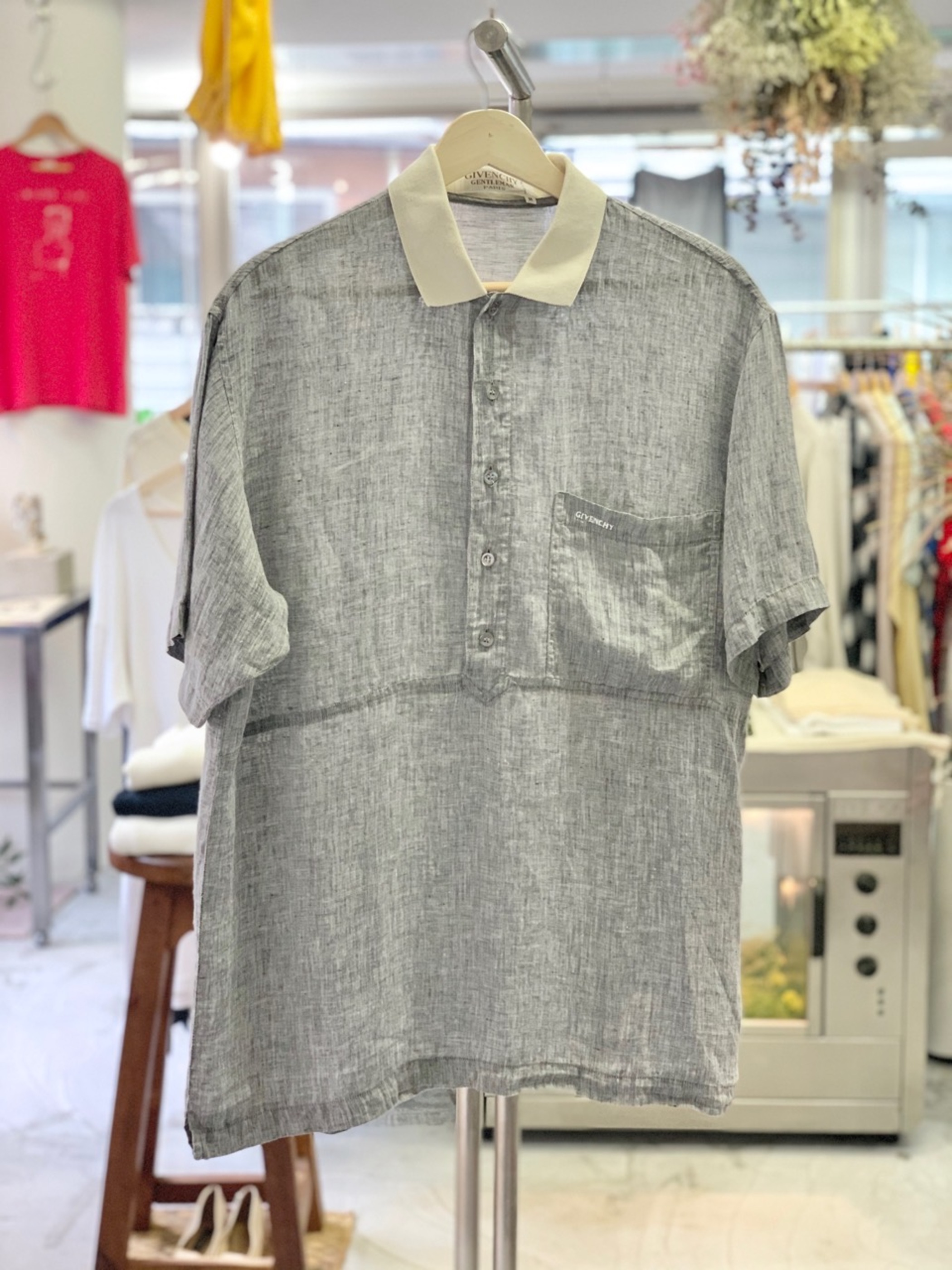 Old GIVENCHY Linen pullover shirt Made in Italy