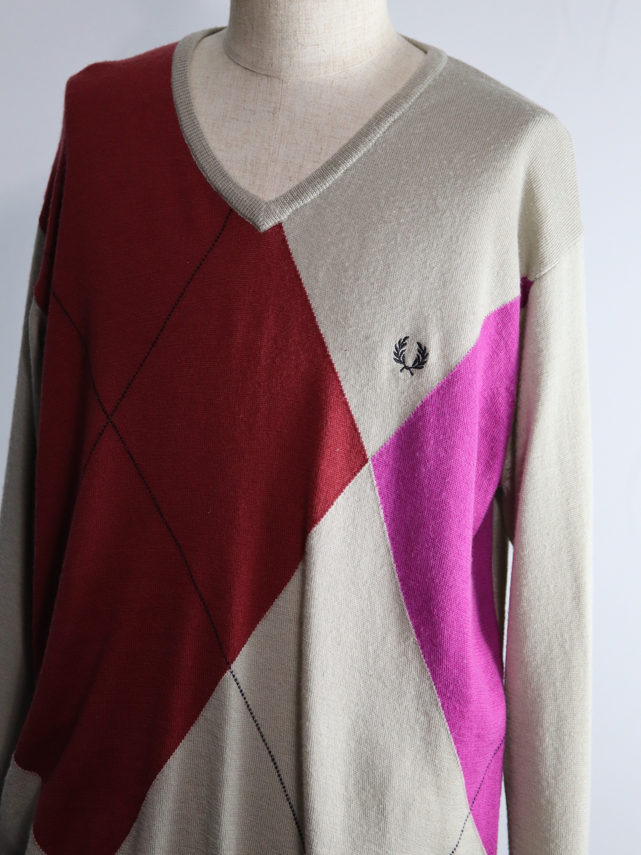FRED PERRY Argyle Knit
