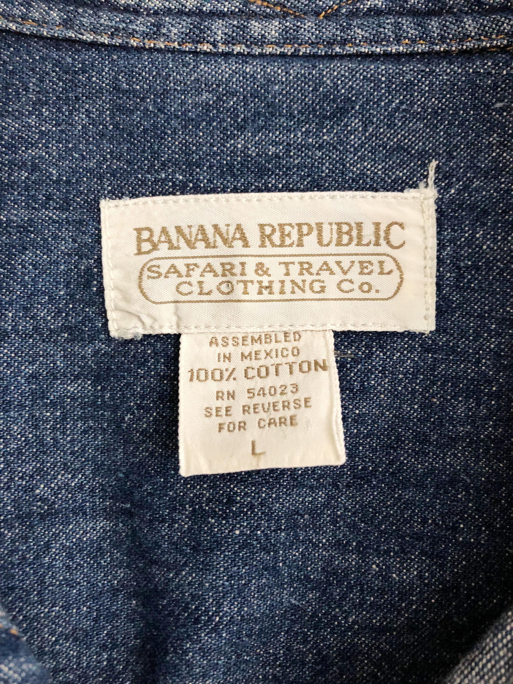 Vintage 80's Banana Republic Denim Shirt