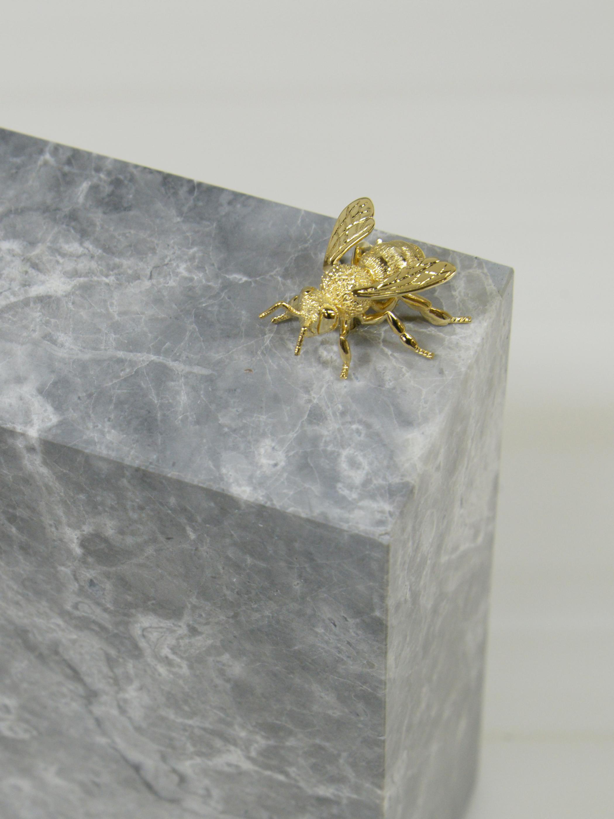 2018 exhibition ''moraltone'' marble block with bee【emperador royal chrome】