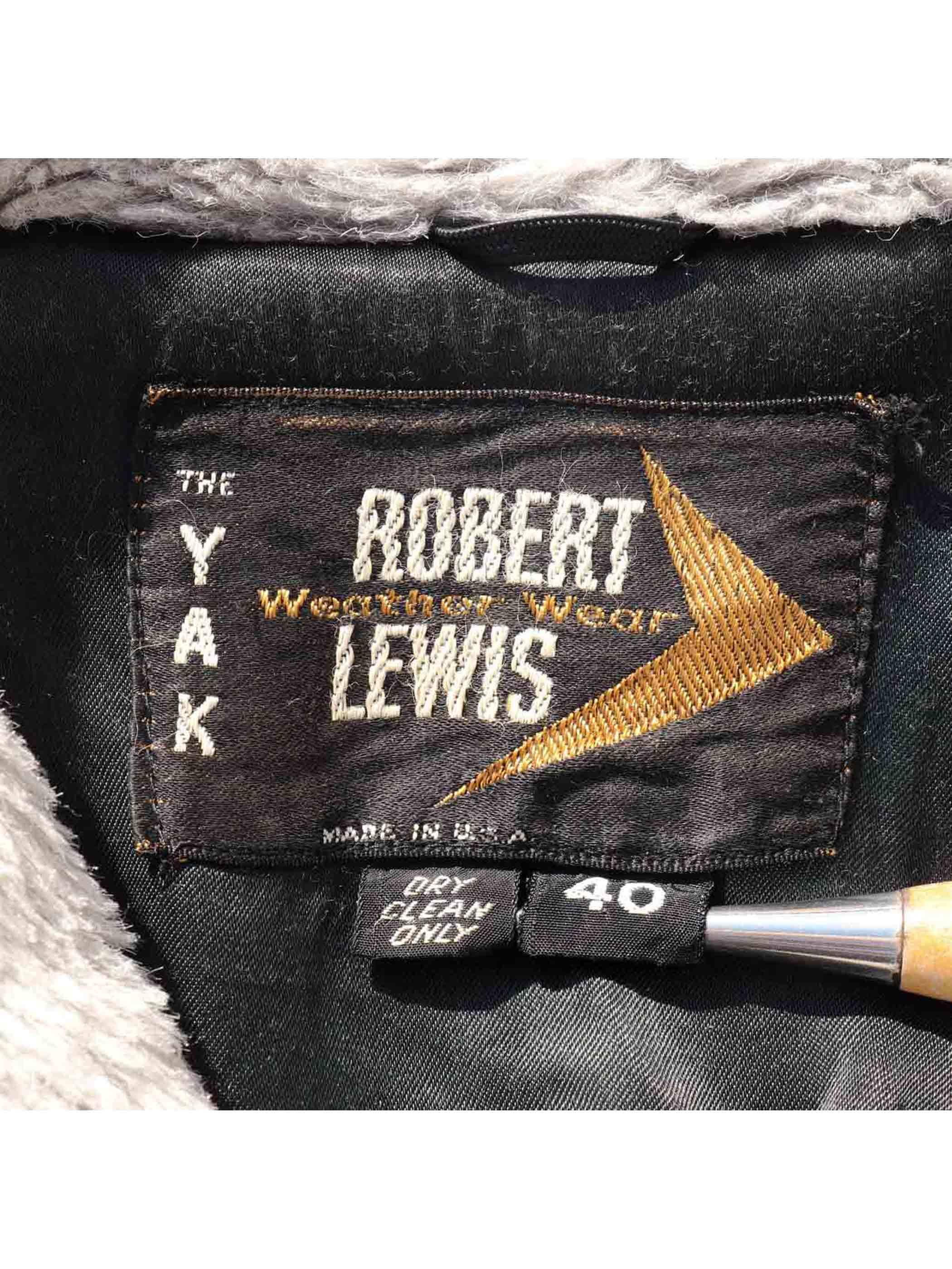70's ROBERT LEWIS USA製 ショールカラーボアコート [40]