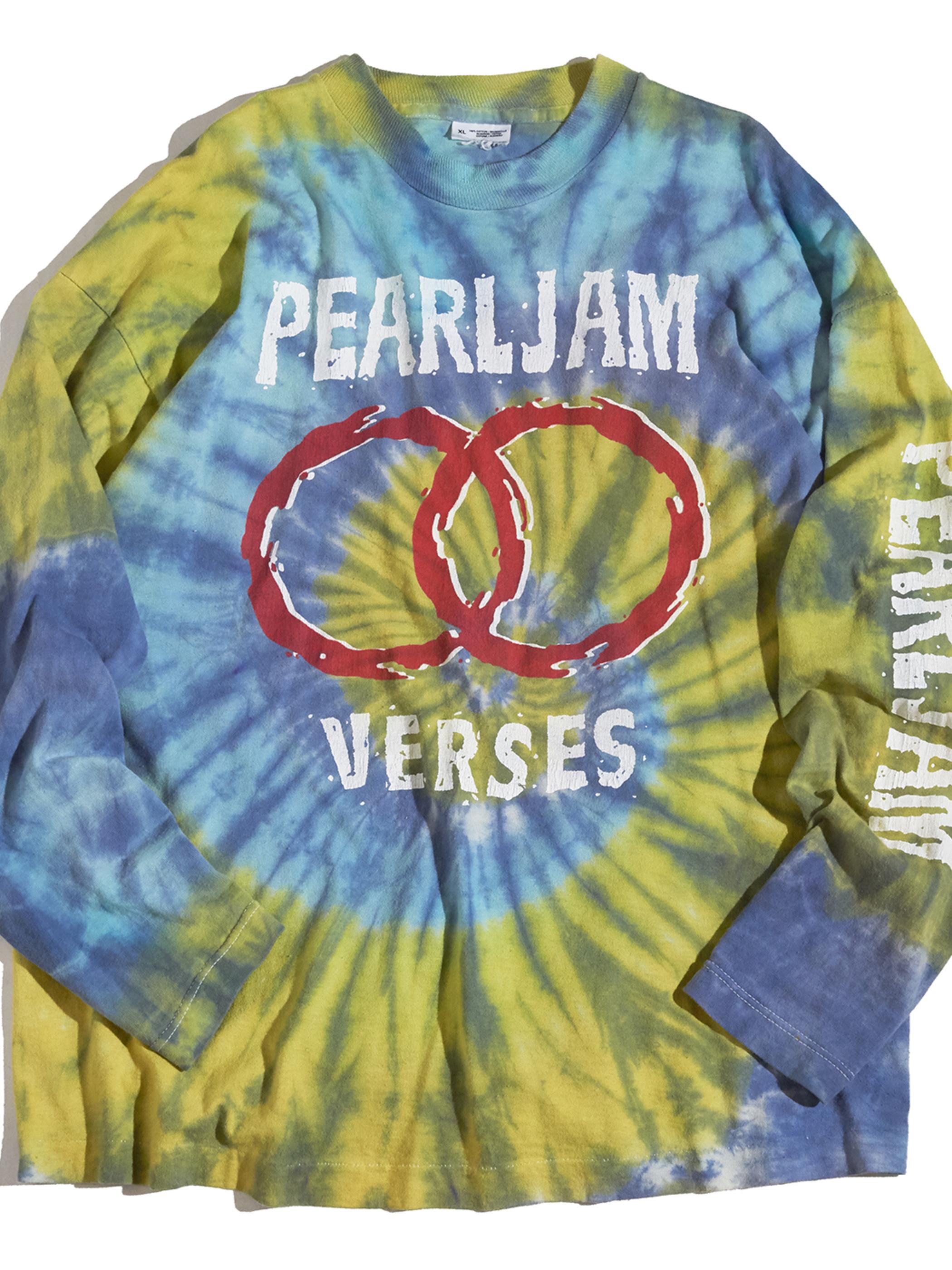 "1990s ""PEARL JAM"" L/S both tie dye -TIE DYE-"