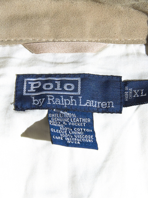 """1990s """"POLO by Ralph Lauren"""" nubak sport jacket -BEIGE- <SALE¥22500→¥18000>"""