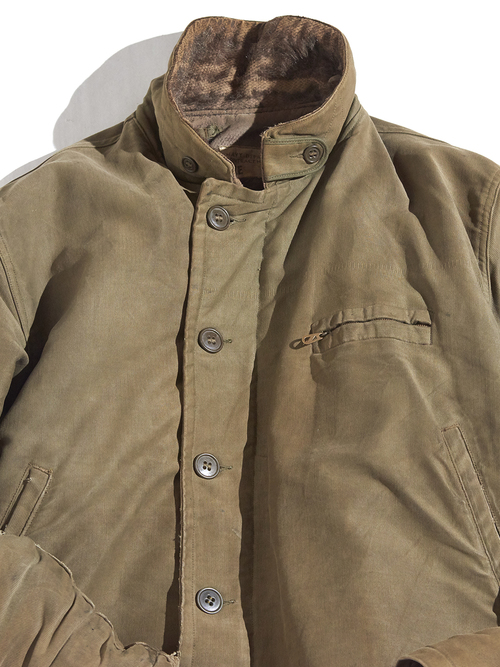 "1940s ""USN"" N-1 deck jacket -OLIVE BROWN-"