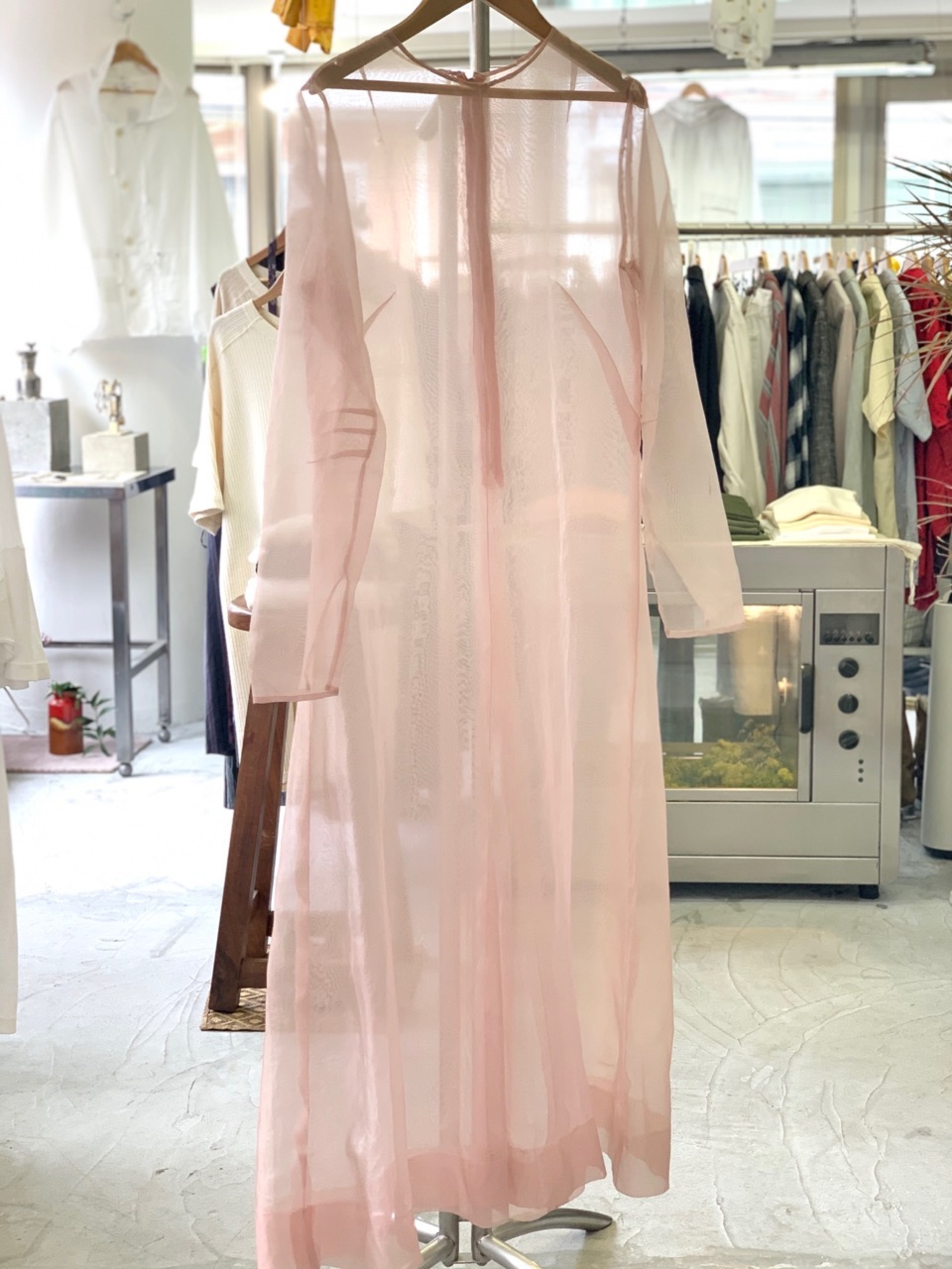 1960's〜 Pink organdie maxi dress