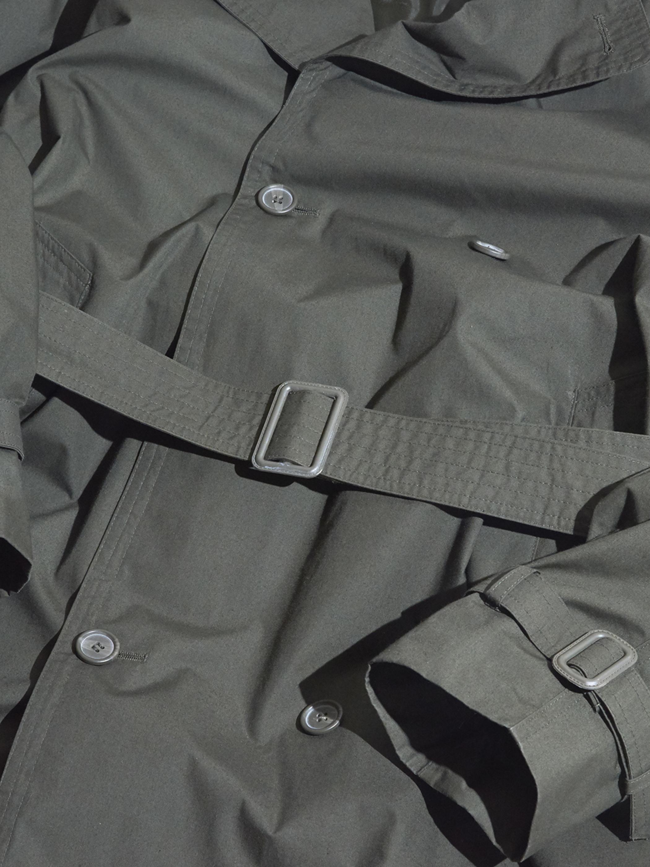 "1970s ""unknown"" trench coat -KHAKI-"