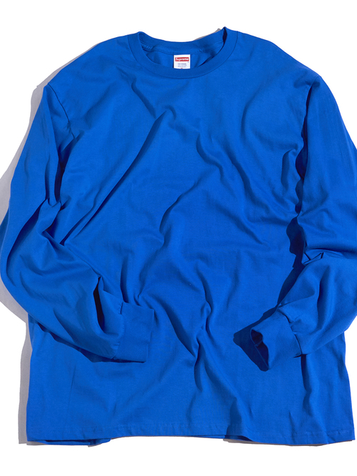 "2000s ""SUPREME"" L/S blank tee -ROYAL BLUE-"
