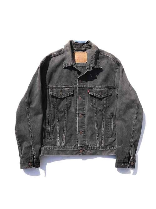 90's~ LEVI'S 70507 ブラック デニムジャケット [S]