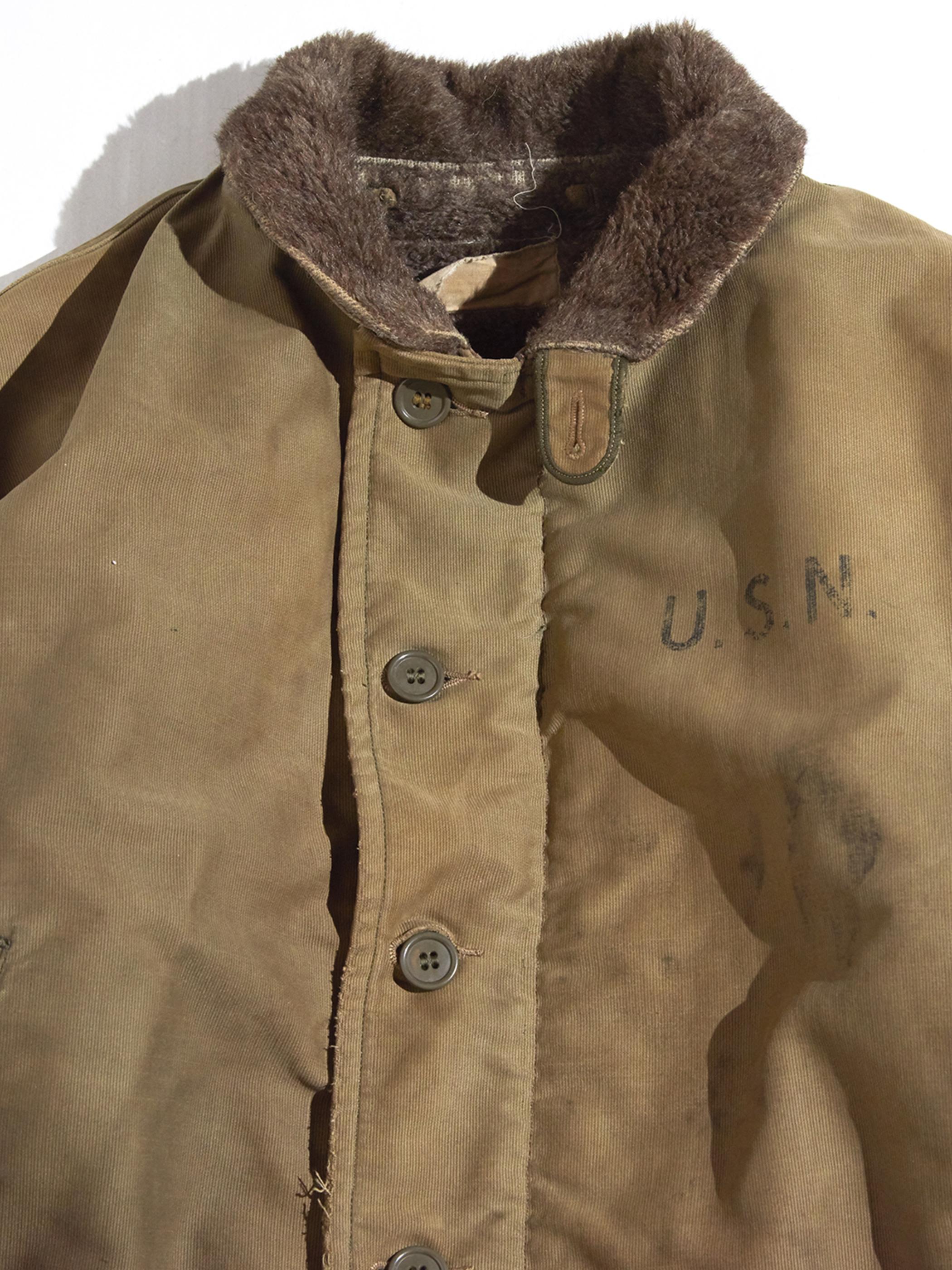 """1940s """"USN"""" N-1 deck jacket -OLIVE BROWN-"""