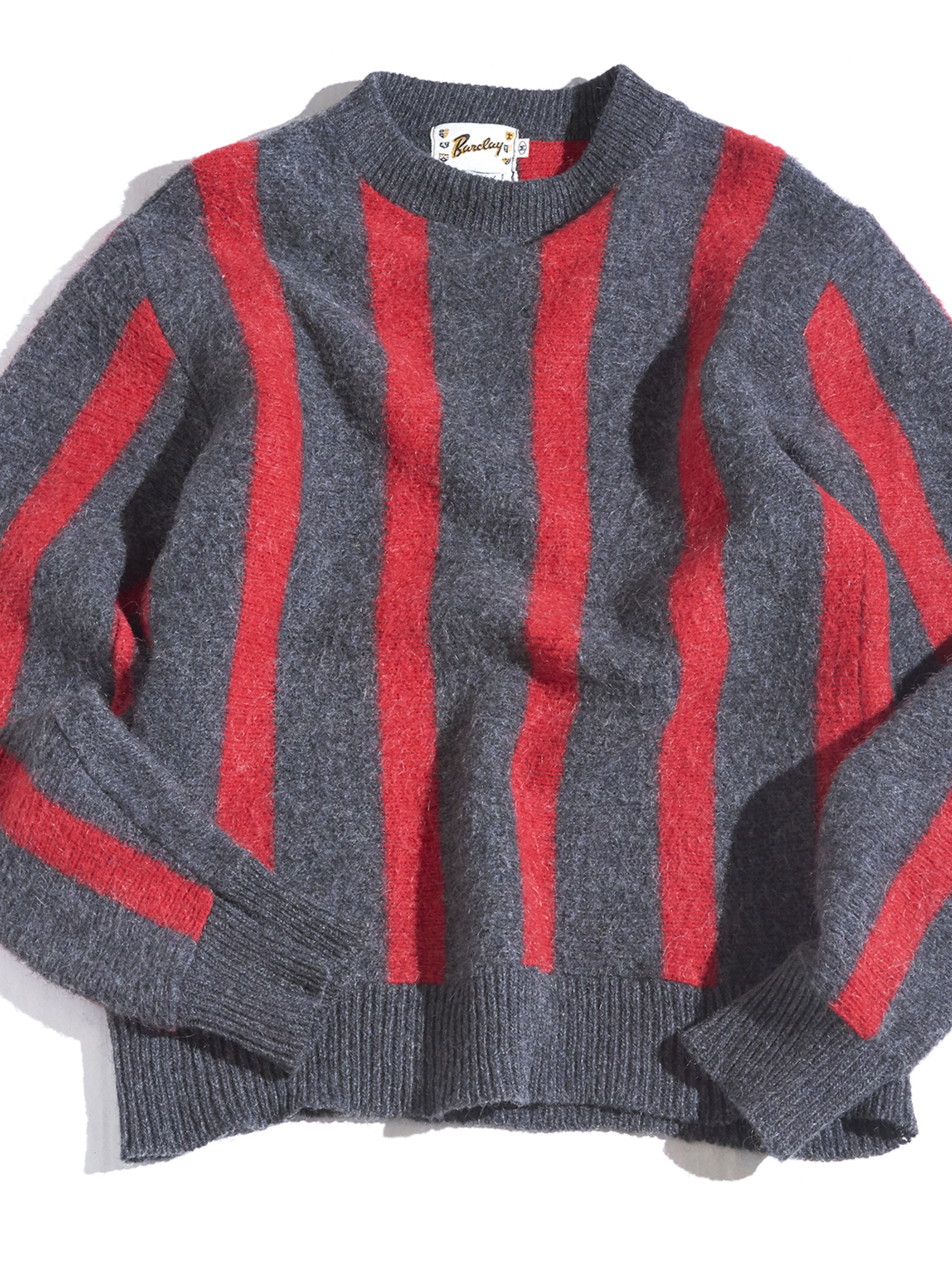 "1960s ""Barclay"" high neck mohair knit -STRIPE-"