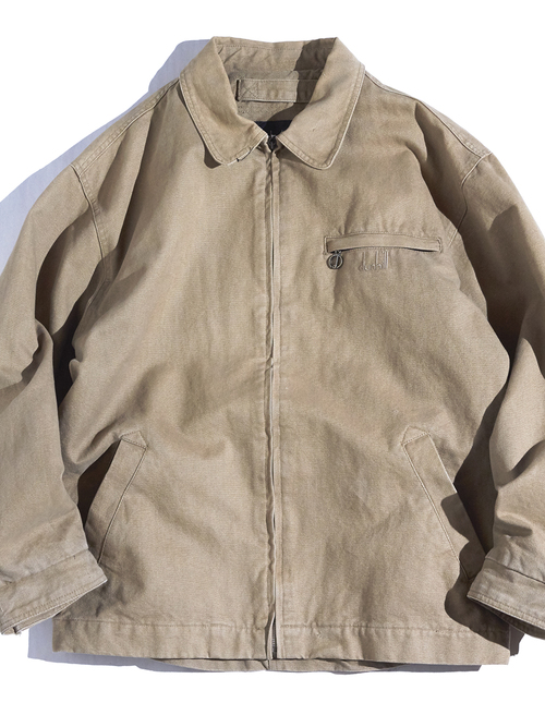 "1990s ""dunhill"" cotton duck drizzler jacket -SAND-"