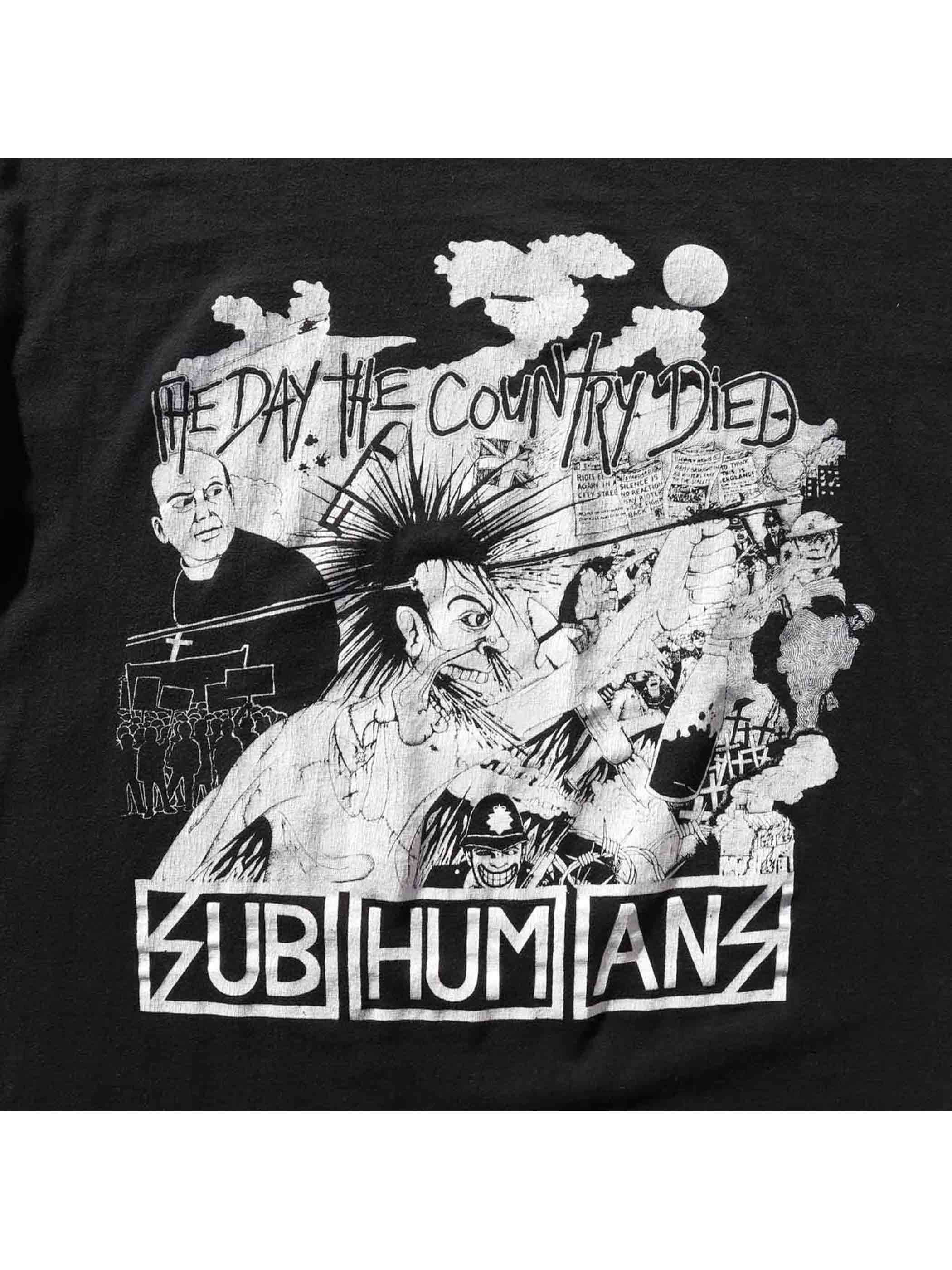 "90's SUBHUMANS ""THE DAY THE COUNTRY DIED"" USA製 Tシャツ [L]"