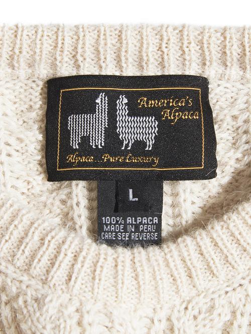 "1990s ""America's Alpaca"" alpaca knit sweater -WHITE-"