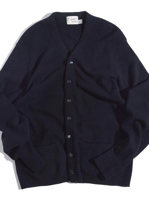"1960s ""Rob Roy"" wool knit cardigan -BLACK-"