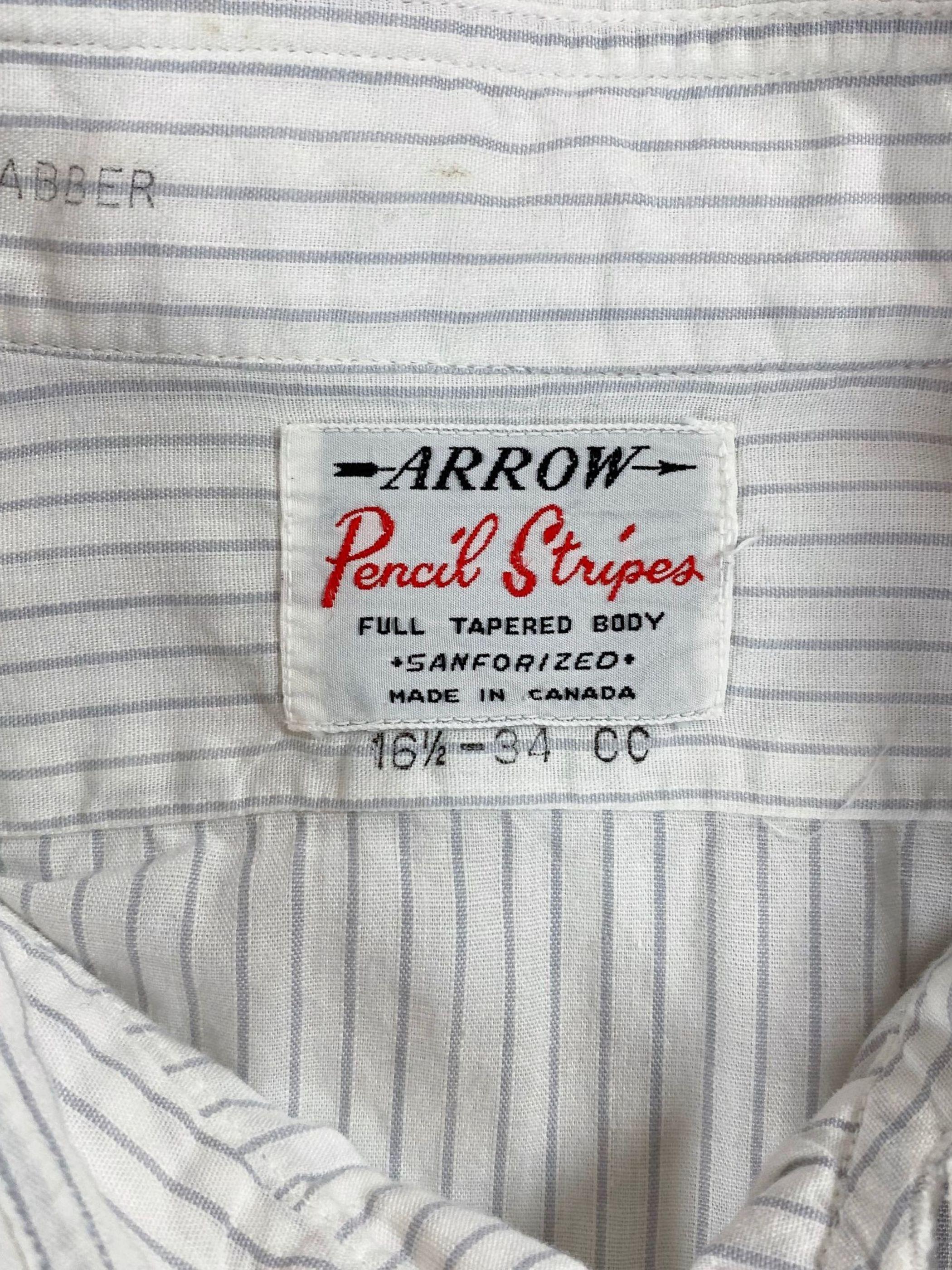 60's ARROW stripe shirt