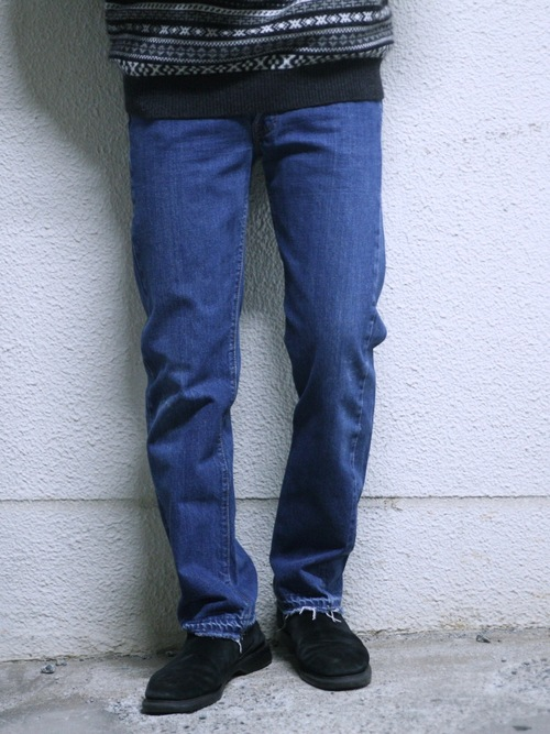 "1973y ""Levi's"" 501 66single denim pants -BLUE-"
