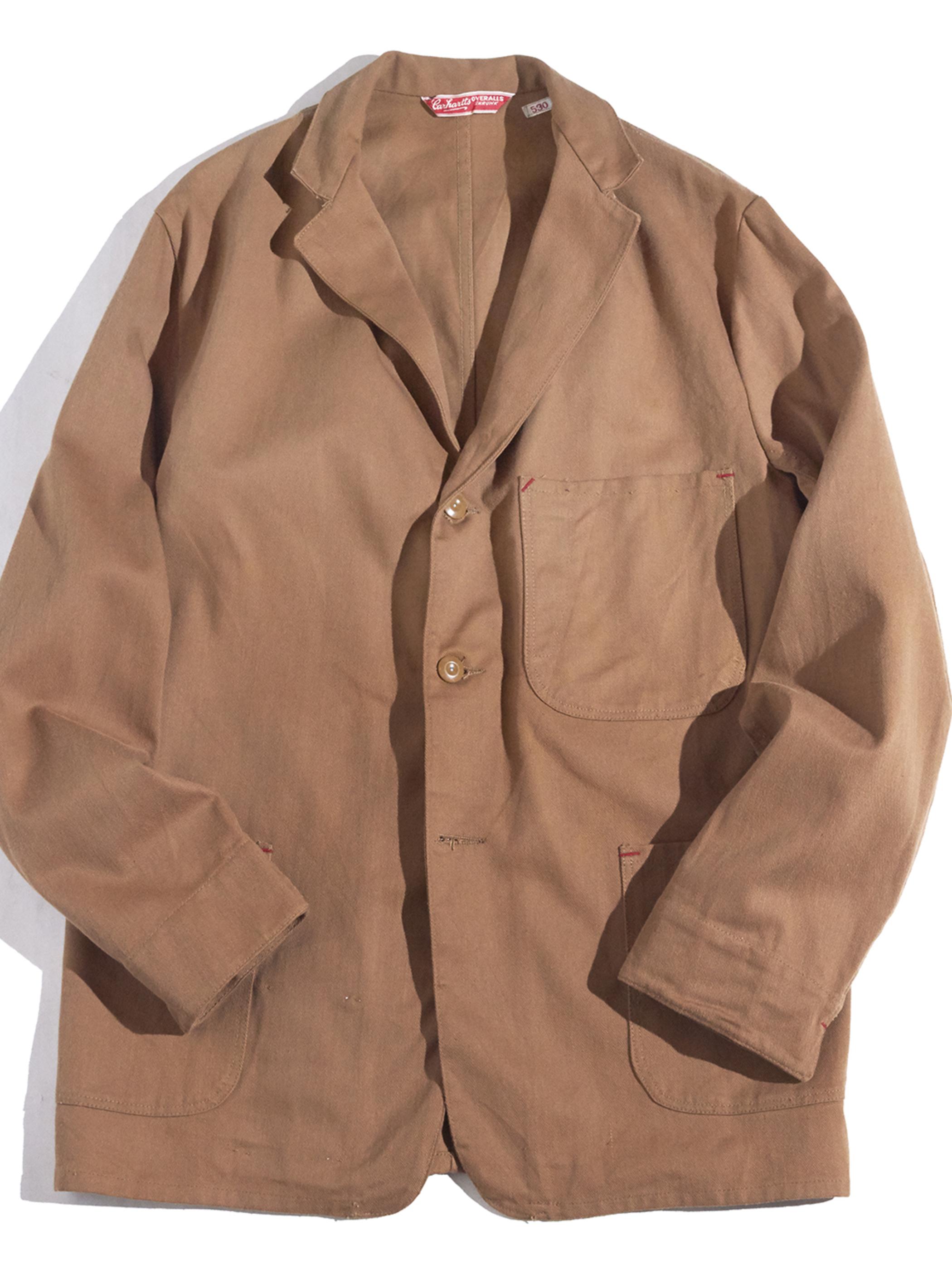 "NOS 1960s ""carhartt"" work jacket -BROWN-"