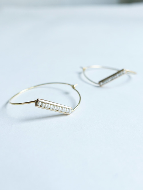 An dotted line earrings1