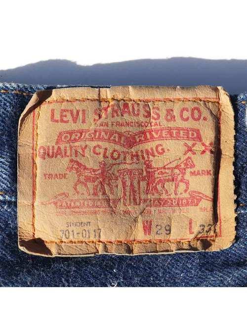 80's LEVI'S 701 黒カン デニムパンツ [W29]