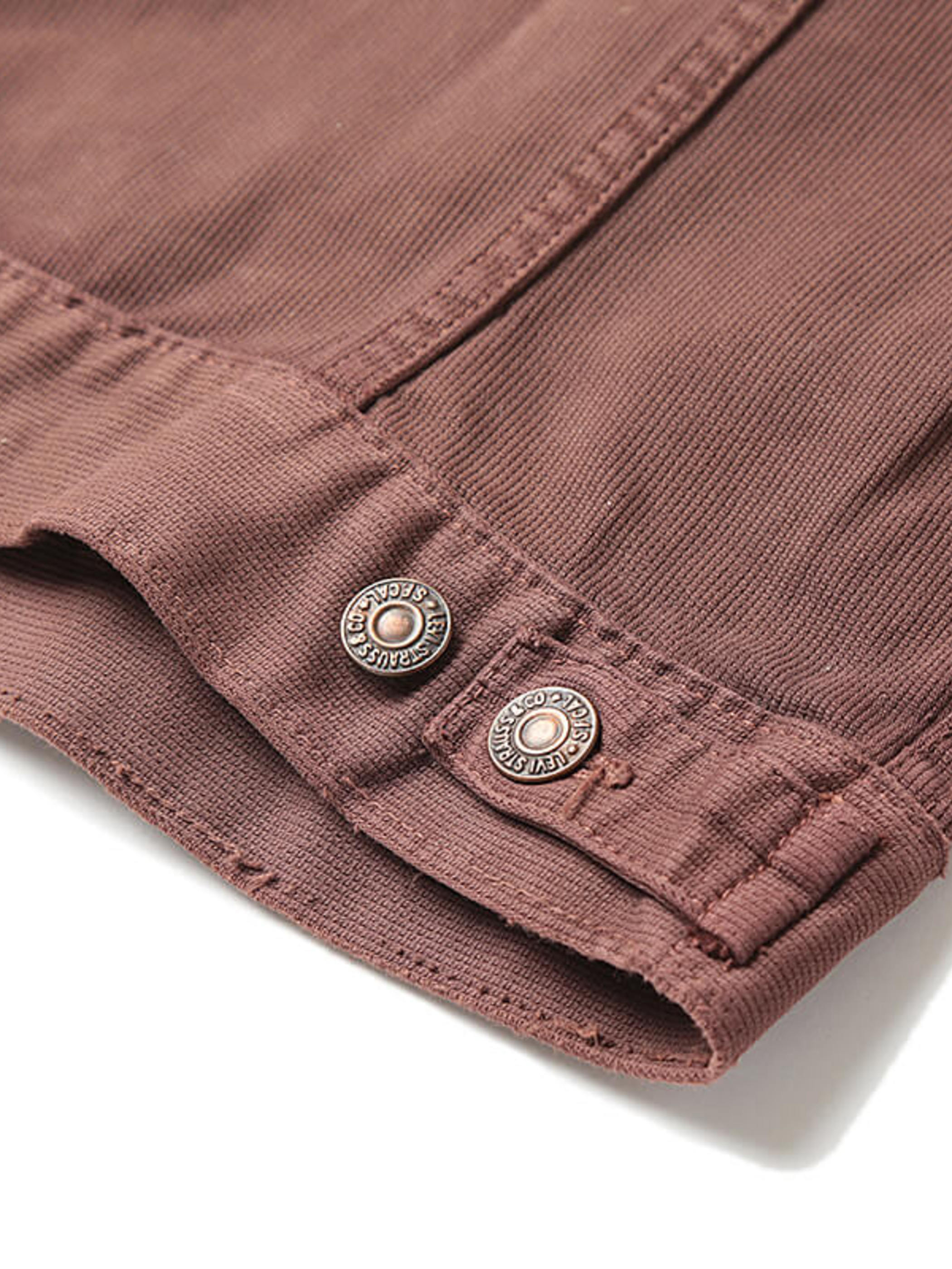 Used / Levi's / 1960's Vintage / 941B XX Cotton Pique Jacket Over Dye Brown