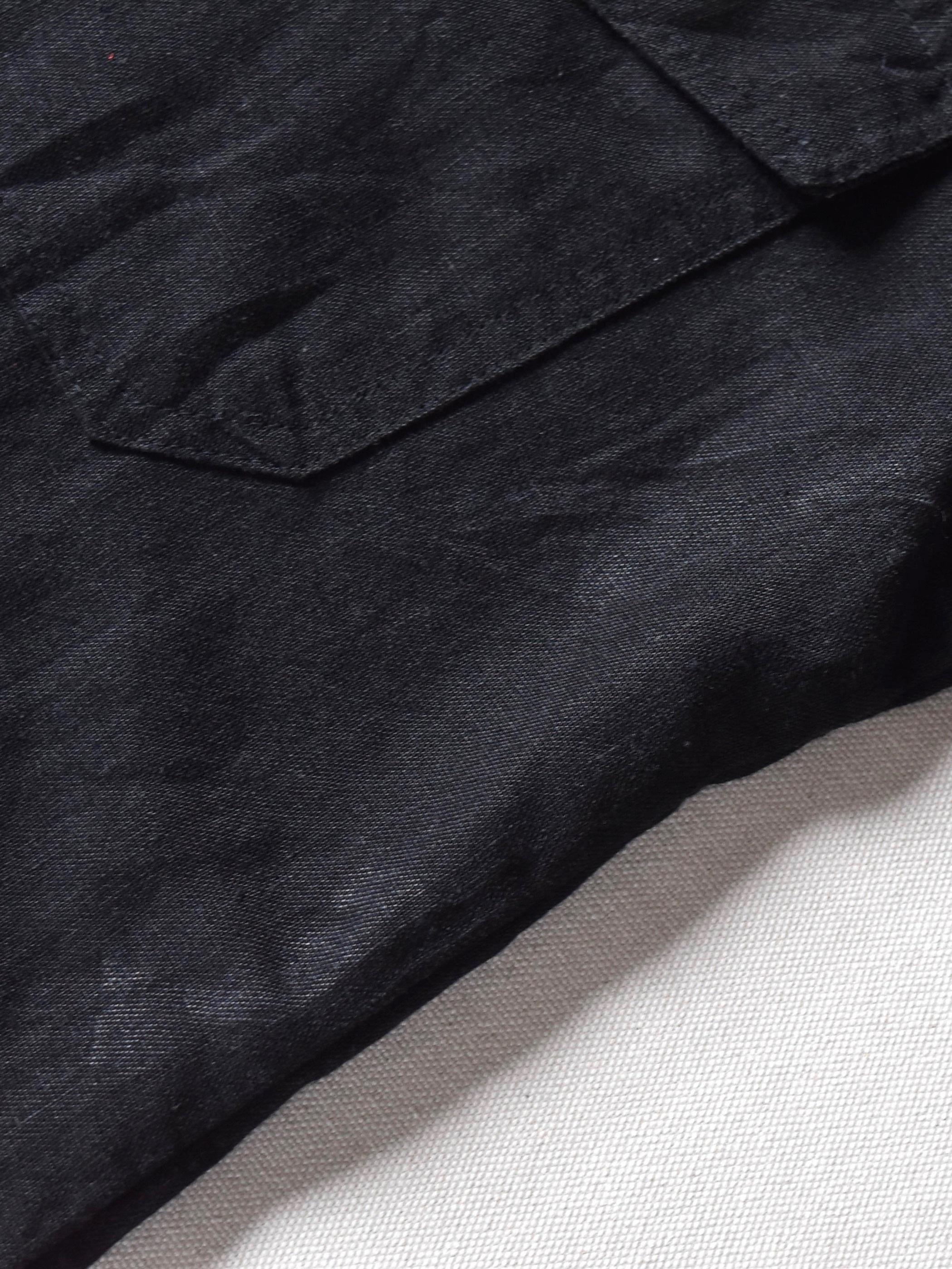 リネン ミリタリーデザイン 半袖 シャツ / linen military design half sleeve shirt