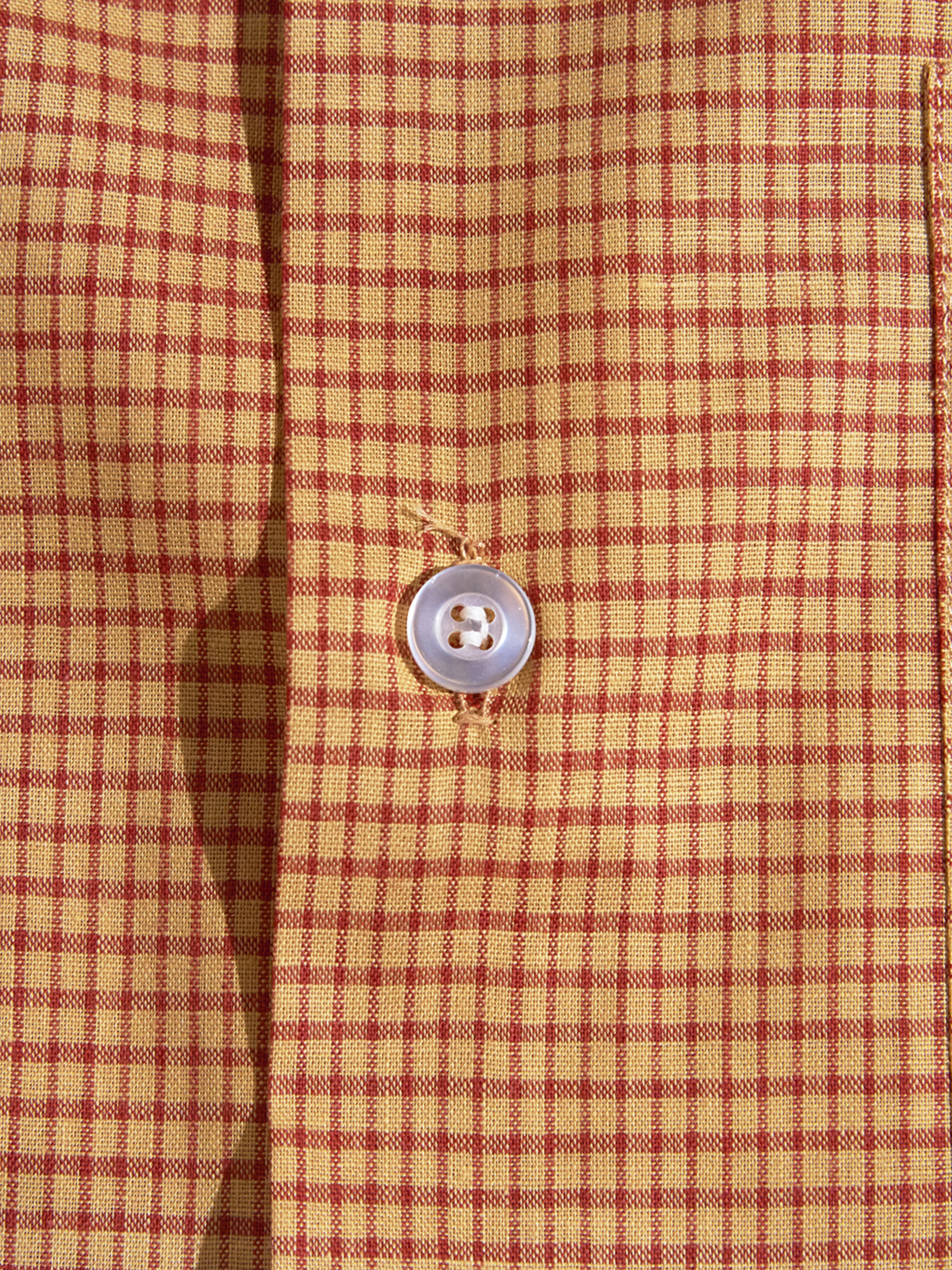 "NOS 1970s ""FRUIT OF THE LOOM"" cotton shirt -CHECK-"