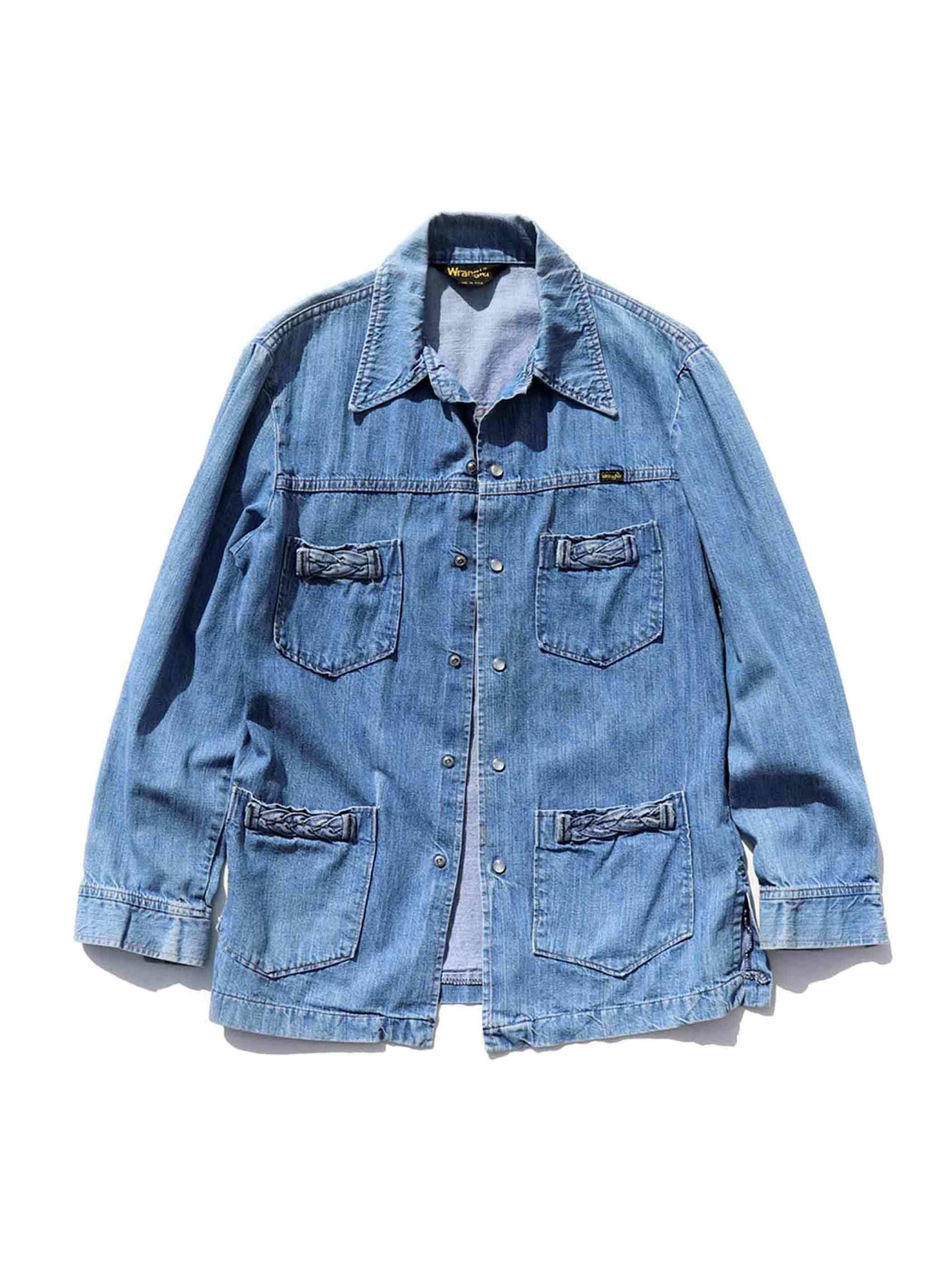70's~ WRANGLER 4-Pocket Denim Jacket [About M]