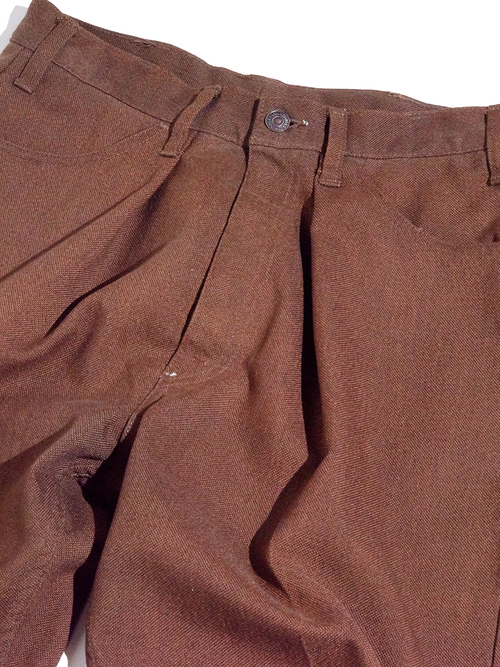"1960s ""LEVIS"" STA-PREST custom tuck slacks -BROWN-"