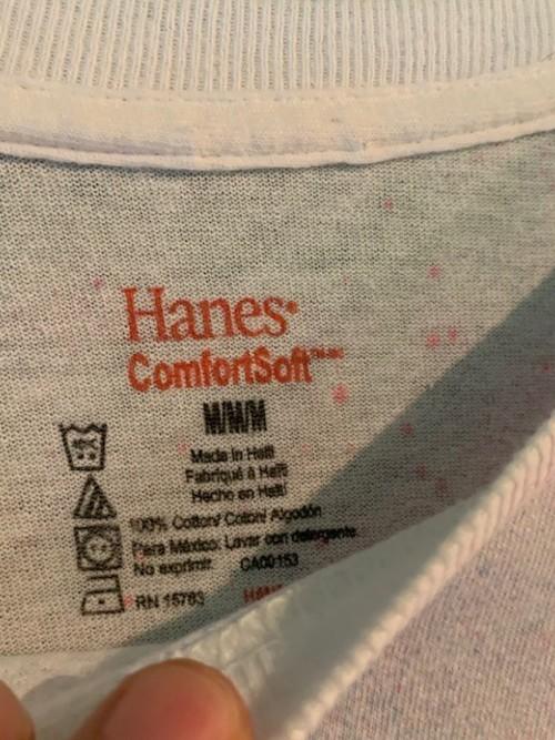 Hanes ペインティングTシャツ