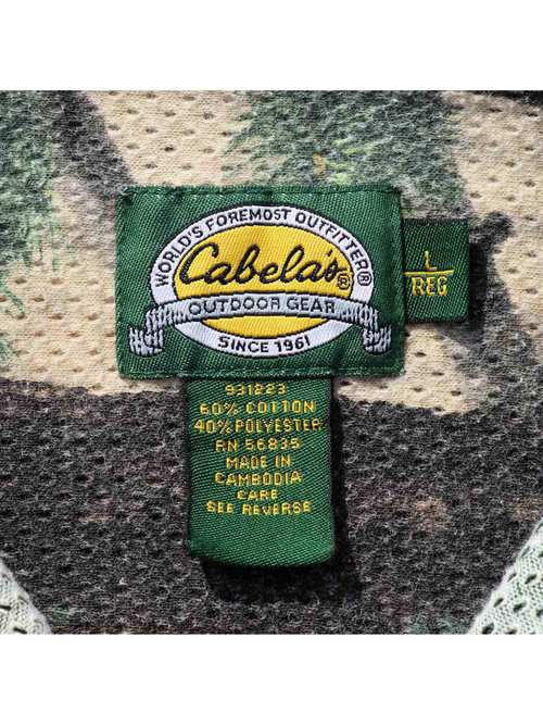 90's CABELA'S Realtree Camo Mesh Shirt [L]