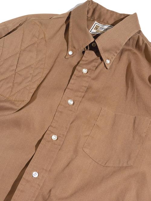 """1970s """"bob allen"""" s/s shooting shirt -BROWN-"""