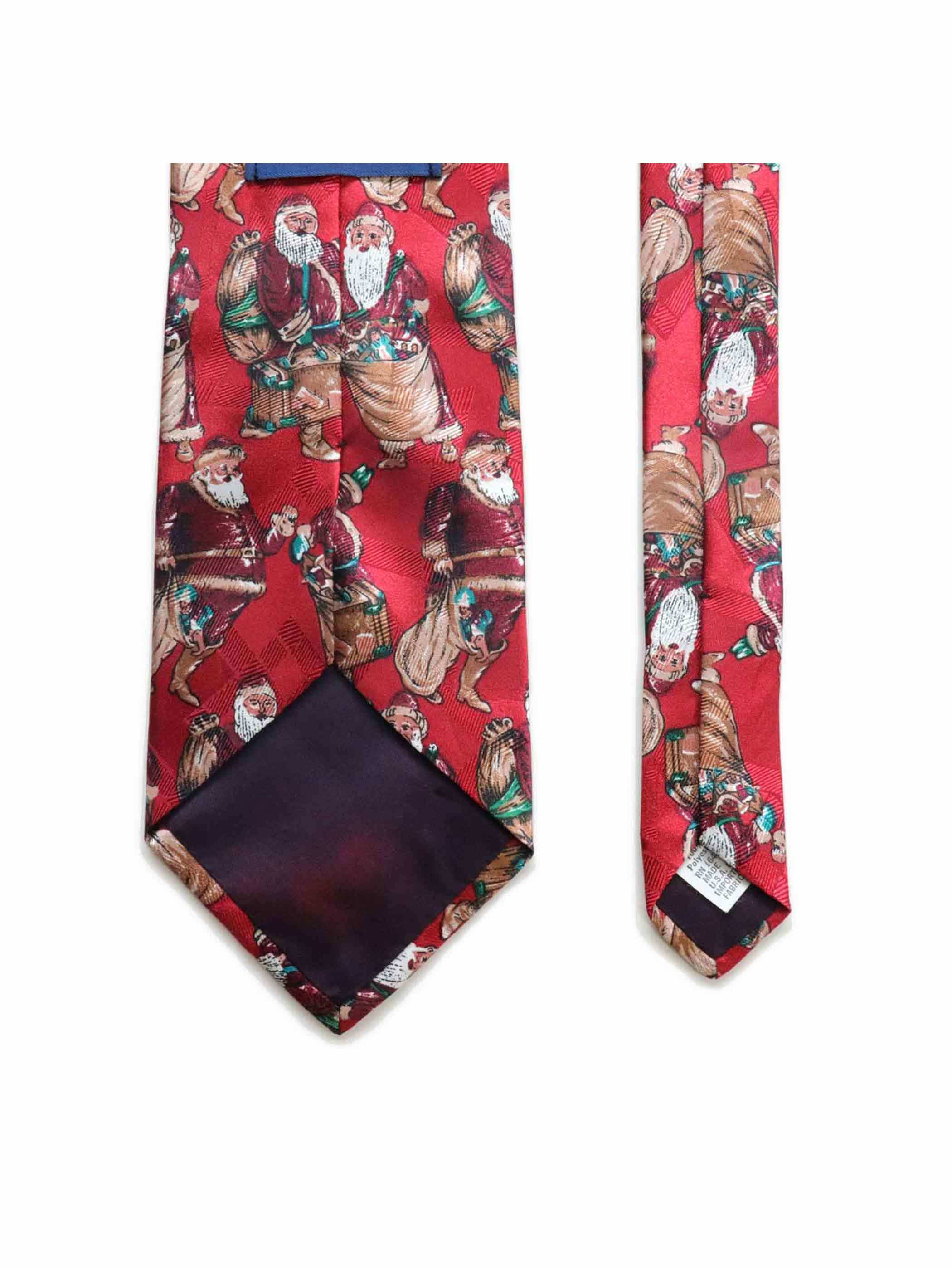 80's CAMDEN COURT USA製 サンタクロース柄 クリスマス ネクタイ