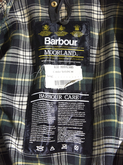 "1990s ""Barbour"" MOORLAND oiled jacket -BROWN-"