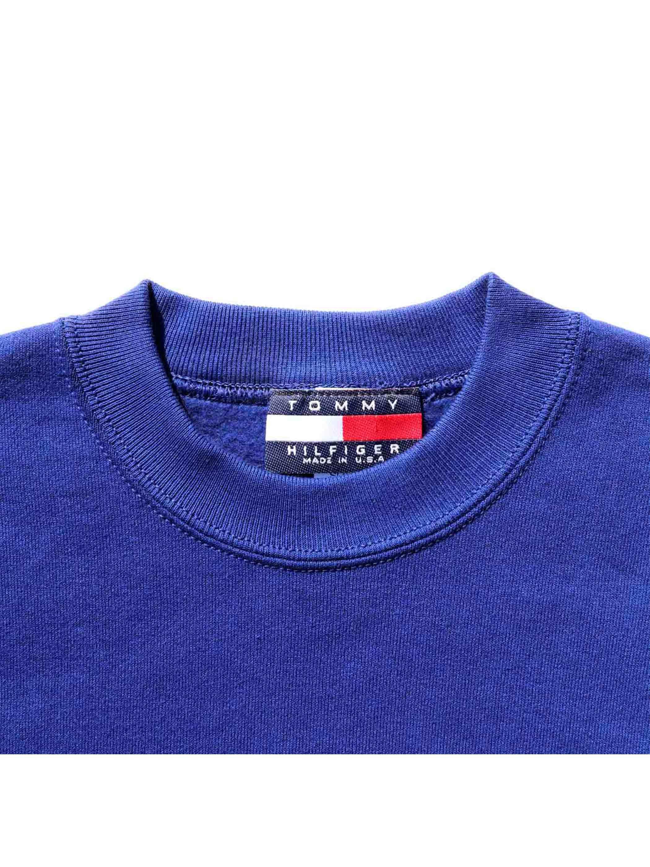 90's ブート TOMMY HILFIGER USA製 刺繍ロゴ スウェット [デッドストック] [L]