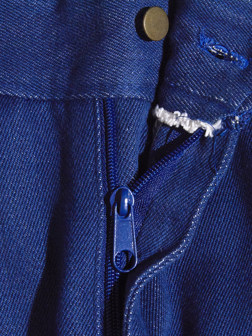 "1990s ""unknown"" vat dye denim work pants -INDIGO-"