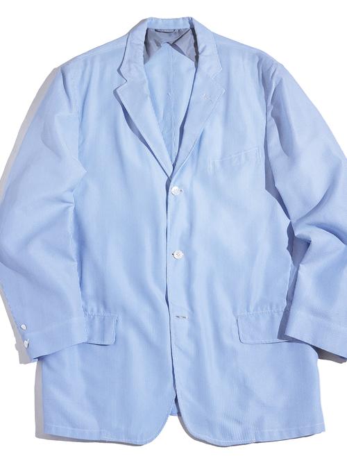 "1960s ""Andy Anderson Ltd."" seersucker stripe tailored jacket -BLUE-"