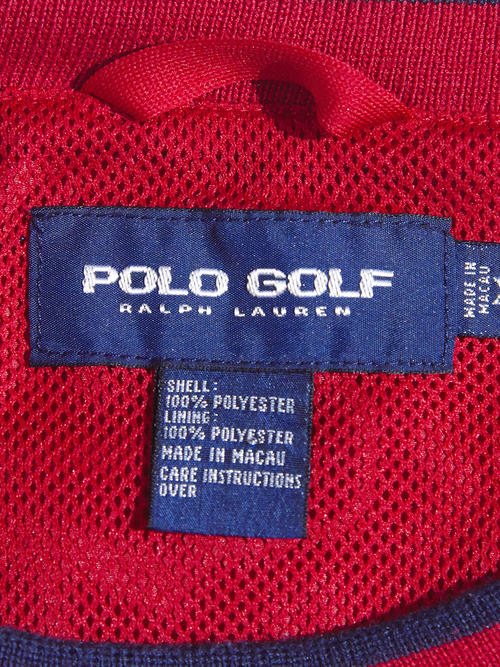 "1990s ""POLO GOLF"" golf pullover jacket -RED-"