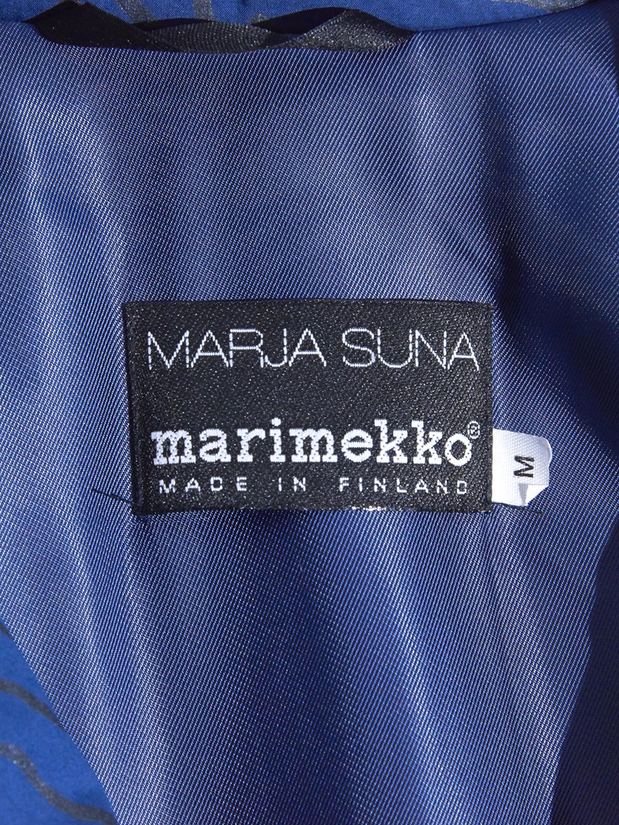 "1980s ""marimekko"" pattern down coat -NAVY-"
