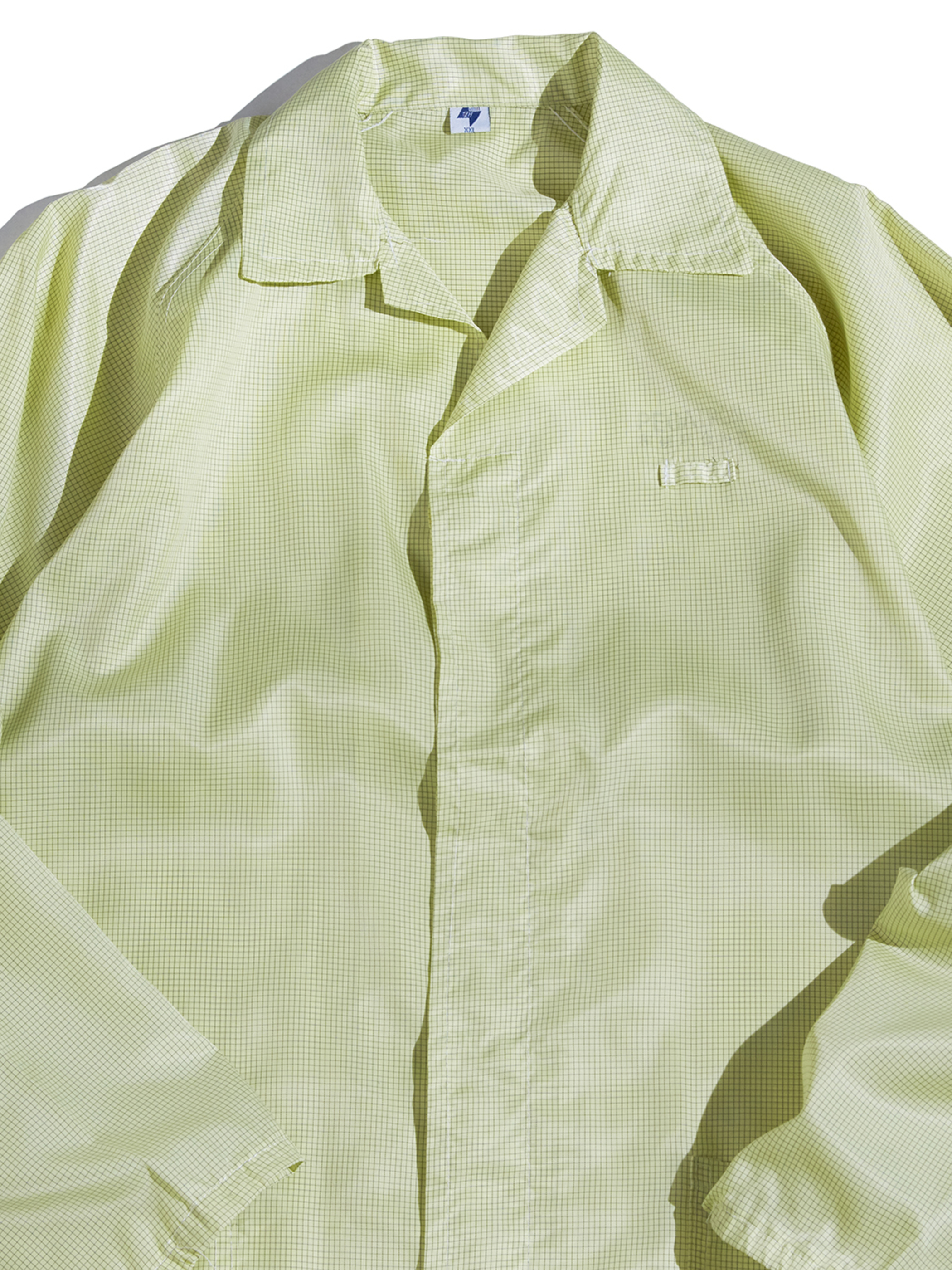 "1990s ""unknown"" nylon shop coat -LIME-"