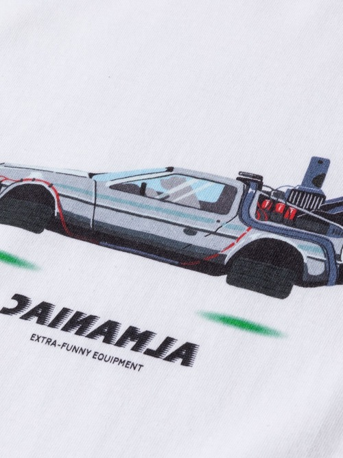 T-shirts [S~XXL] ALMANIAC / REVERSE LOGO FUTURE CAR White