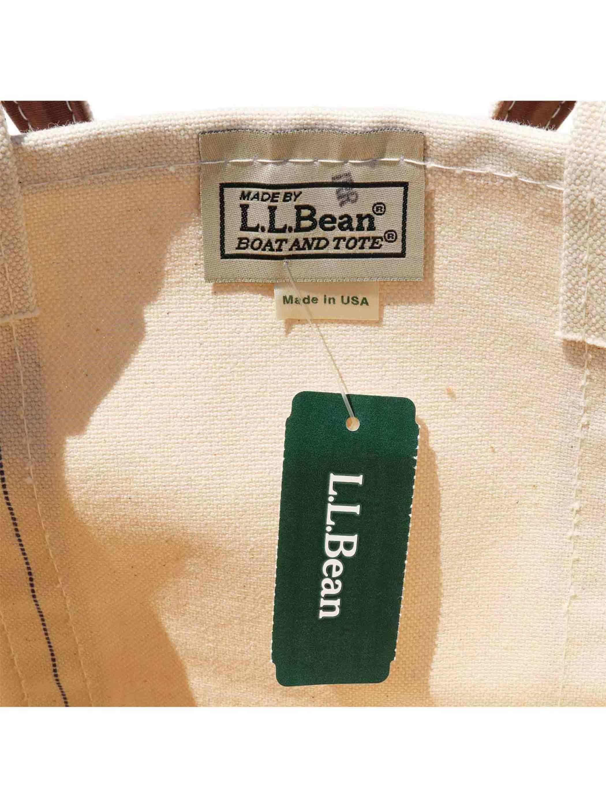 90's L.L.BEAN USA製 ロングハンドル BOAT AND TOTE トートバッグ [デッドストック]