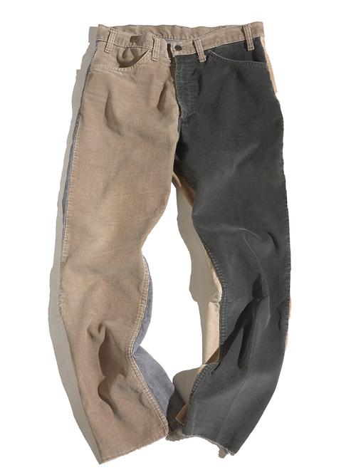 "1980s ""Levi's"" custom mede crazy pettern 519 corduroy pants #15"