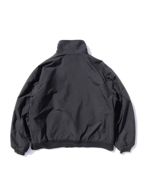80's~ EDDIE BAUER ブラック ポーラテックフリース ナイロンジャケット [L]