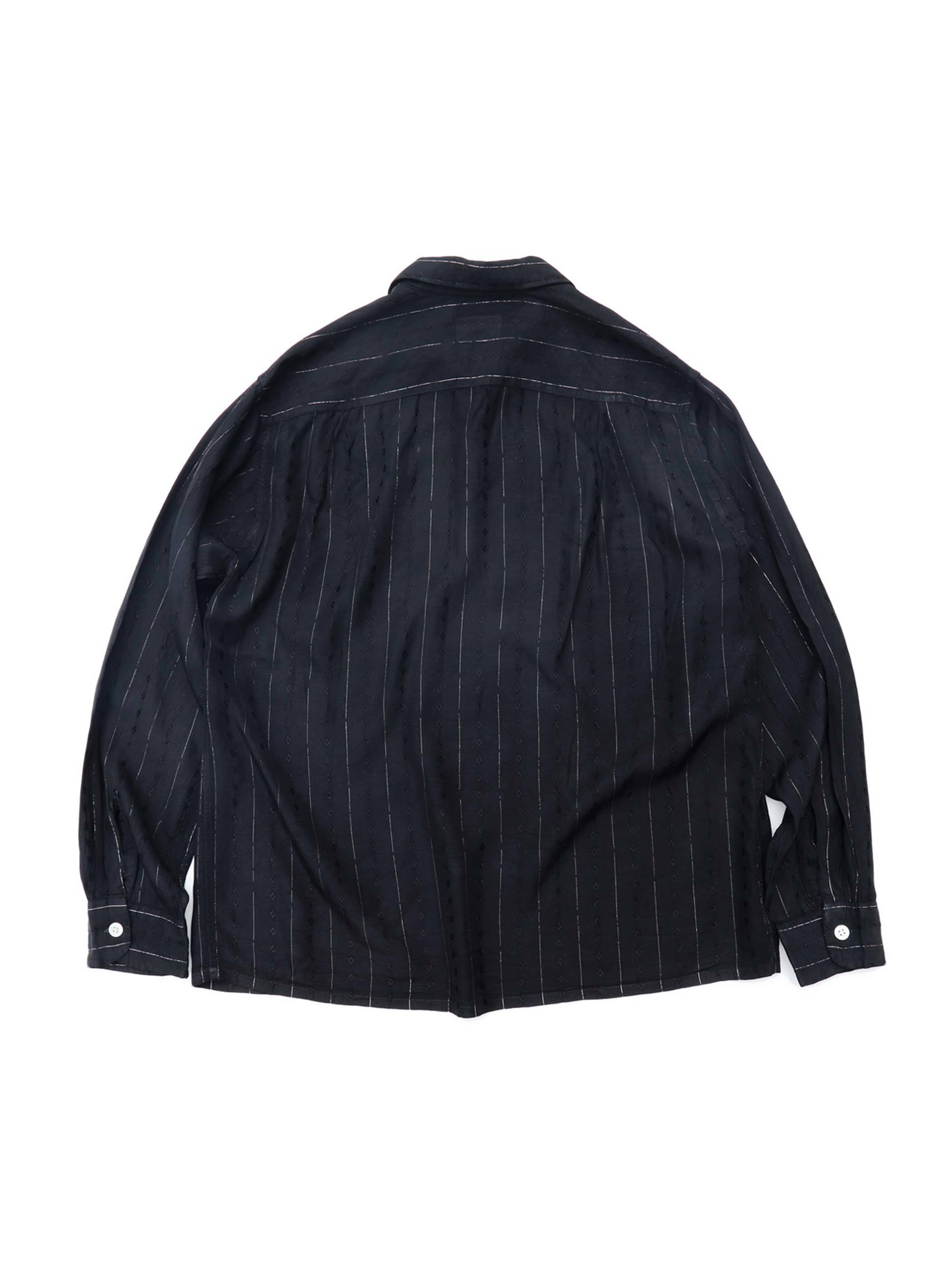50's TOWNCRAFT ブラック オープンカラーシャツ [15-1/2]