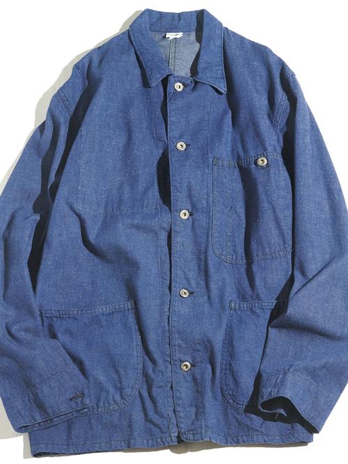 """1960s """"unknown"""" denim coverall jacket -INDIGO-"""
