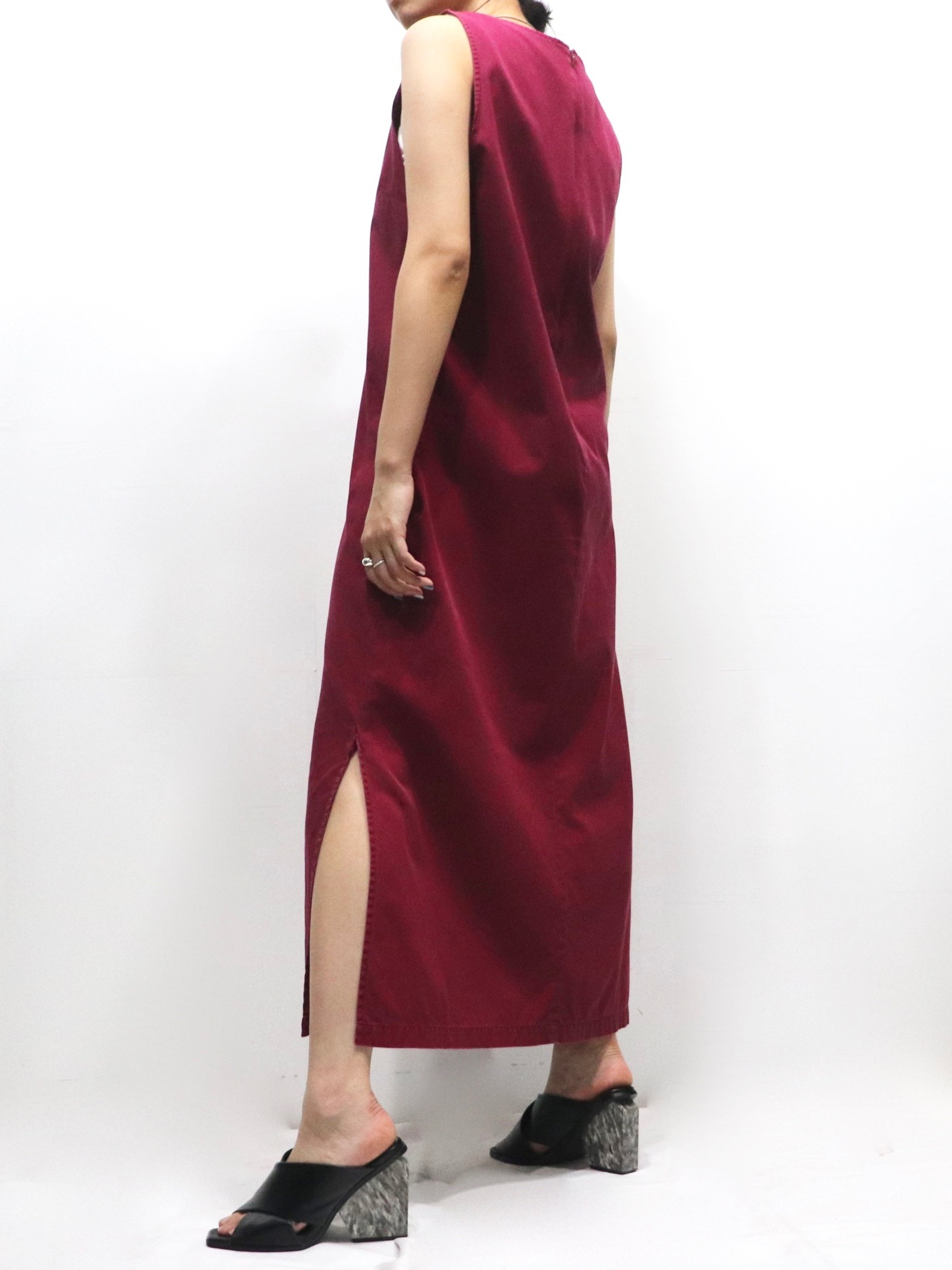 【MARKET】No sleeve over one-piece