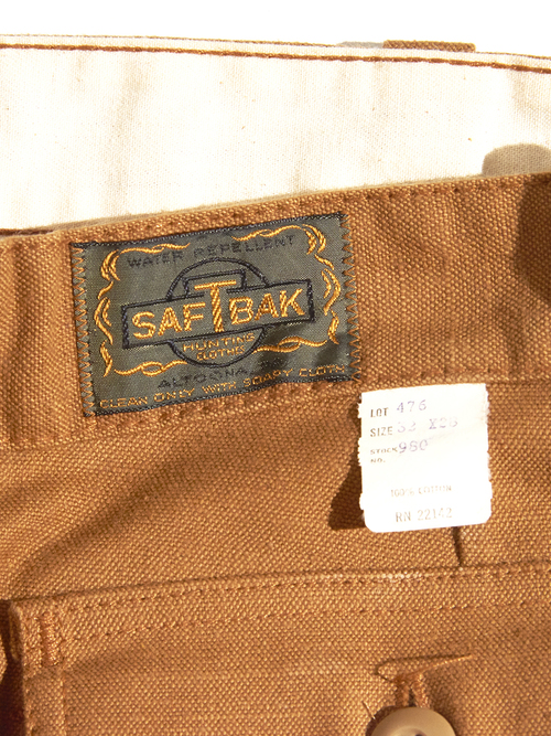 "1970s ""SAFT BAK"" double knee hunting pants -BROWN-"